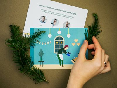 Christmas card for Profinans