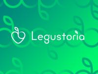 "logo organic food store ""legustoria"""
