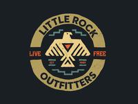 Little Rock Eagle Badge eagle badge vintage badge vintage illustration digital art design brand logos graphic design