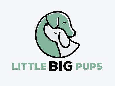 Little Big Pups Logo Option 1 two dogs puppies puppy dog dog breeder logo pet shop logo dog logo puppy logo brand design brand identity branding design brand logos logo logo design graphic design