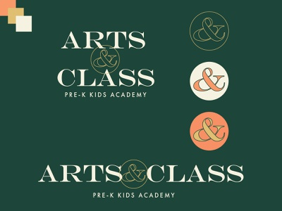 Arts and Class Logo Option 1 typeface sophisticated classy ampersand brand design brand identity digital art branding design brand logos logo logo design graphic design