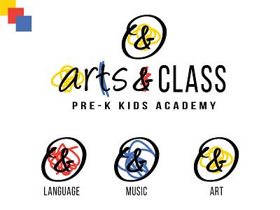 Arts and Class Fun Abstract Logo school logo academy logo art logo scribble logo scribble drawing abstract artsy art ampersand brand design brand identity digital art branding design brand logos logo design logo graphic design