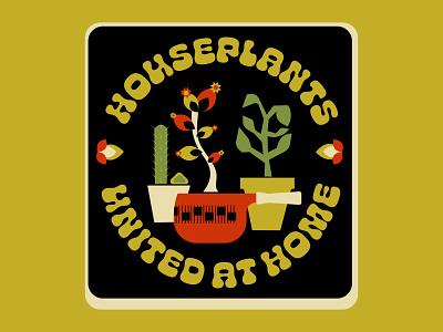 House Party, with Plants flat design houseplants plants flowers flat flatdesign typography illustration vector digital art design graphic design