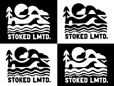 Black and White Landscape Logo flatdesign vector brand design brand identity digital art logos logo design logo design graphic design