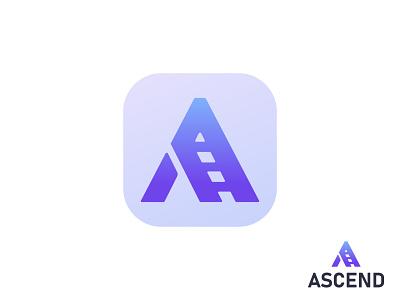 Ascend Ladder Logo Design typography vector brand identity branding brand logos graphic design letter a ascend ladder logo design logo