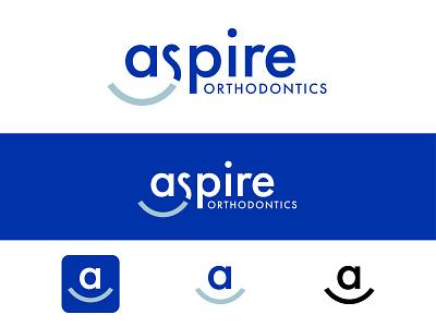 Aspire Orthodontics Smile Logo design typography orthodontist dentistry smile dentist orthodontics brand identity branding brand logo design logo graphic design