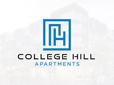 College Hill Apartments Logo brand design linesart line building apartment brand identity branding brand logo design logo design graphic design