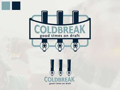 COLDBREAK Logo #1 taps draft beer tap brand design branding brand logos logo design design logo graphic design