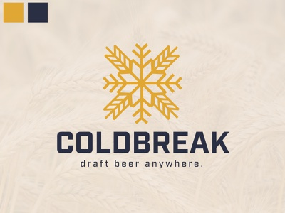 COLDBREAK Logo #2 snow grain cold ice barley draft beer brewery wheat snowflake brand identity digital art branding logos brand illustration logo logo design design graphic design