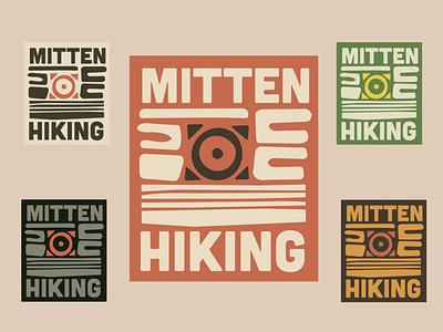 Mitten Hiking Organic Designs hiking rustic organic nature branding brand design illustration digital art logos brand logo design logo design graphic design