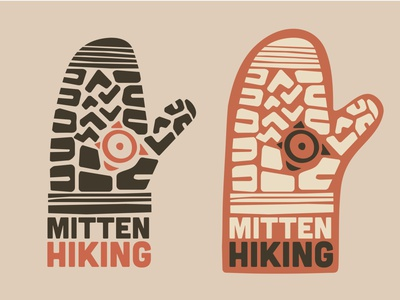 Mitten Hiking Logo illustration brand logo design logo design graphic design mittens shoe pattern boot pattern hike hiking boot bootstrap hiking mitten