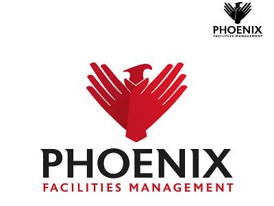 Phoenix Hands Logo Design bird janitorial care feathers hands phoenix vector illustration logos branding brand logo design logo design graphic design