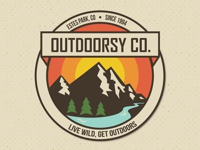 Outdoorsy Co. nature logo mountain logo outdoors logo logos logo
