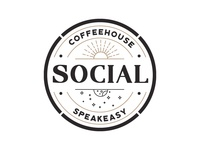 Social Coffee House and Speakeasy Logo