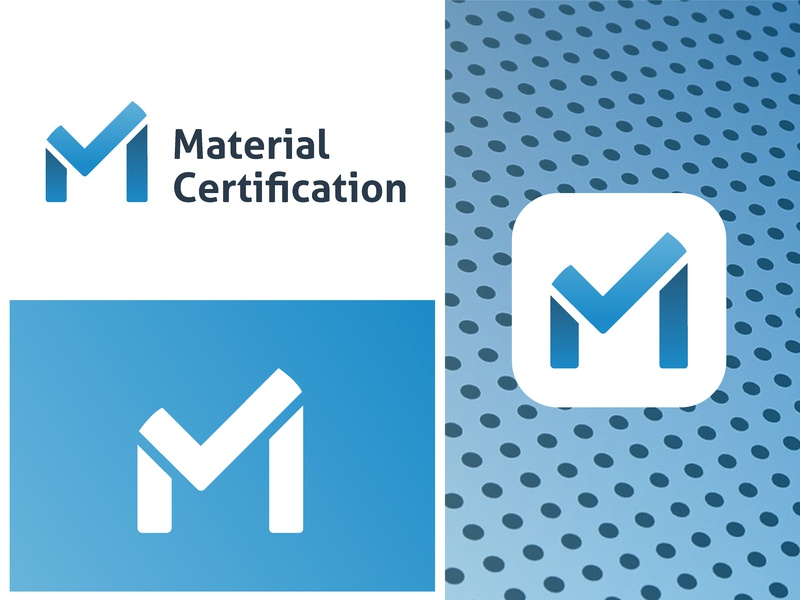 Certification App Logo Design brand identity brand design minimal marterials certification check mark m branding brand logo design design logos logo