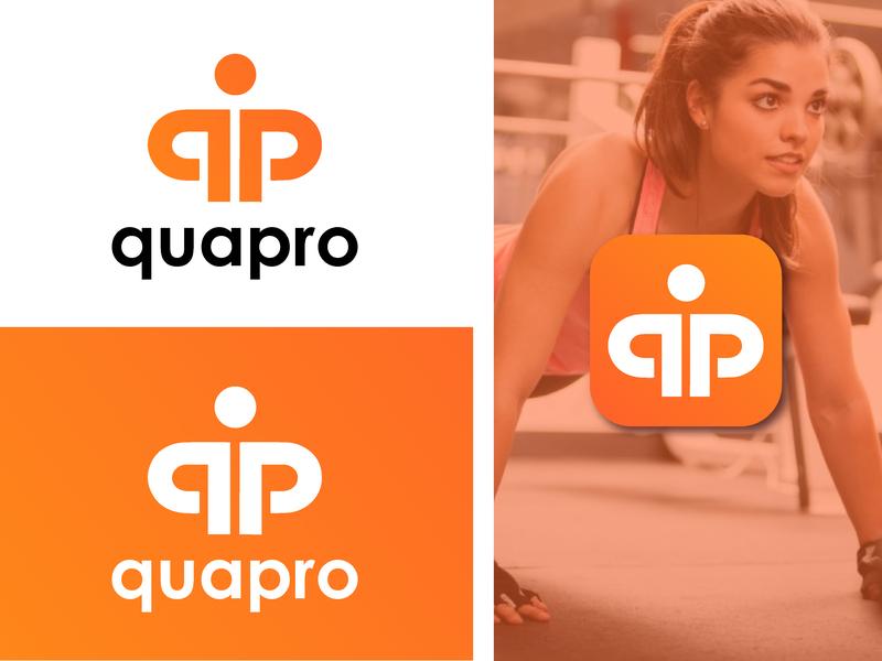 Quapro Fitness Therapy Logo graphic design qp workout gym fitness branding brand logo design logo