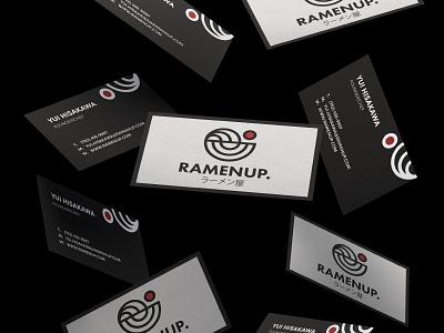 Business Card Design for Ramenup business card design business card psd business card ramen bowl ramen restaurant ramen bar ramen behance project logos brand identity brand design photoshop mockup graphic design branding brand logo design logo