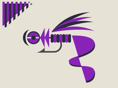 Abstract Fishing Lure 001 purple shapes art graphic design lure fishing fishing lures vector illustration design