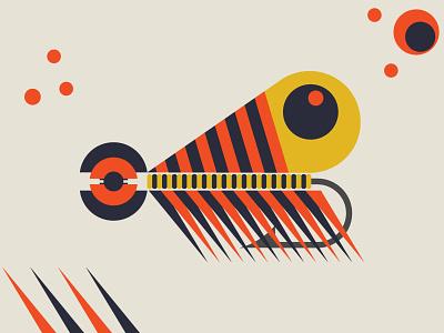 Abstract Fishing Lure 003 flatdesign art abstract lures fishing lure fishing graphic design vector illustration design