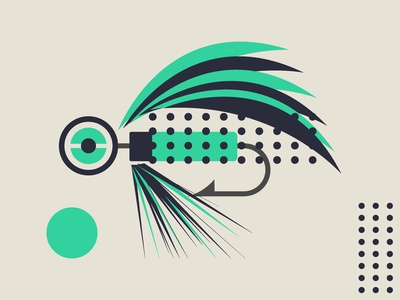 Abstract Fishing Lure 004 abstract lures fishing lure flatdesign art fishing graphic design design vector