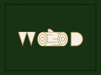 Wood Typographic Image art logos digital art brand design logo design logo flatdesign design graphic design illustration vector