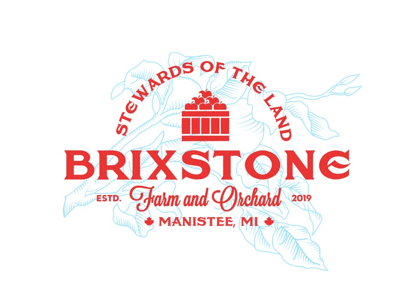 BrixStone Farm and Orchard brand identity digital art illustration branding design brand logos logo design logo graphic design