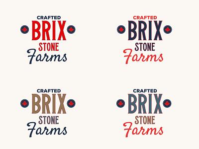 BrixStone Farms Design digital art brand design vector branding design brand logo logos logo design graphic design