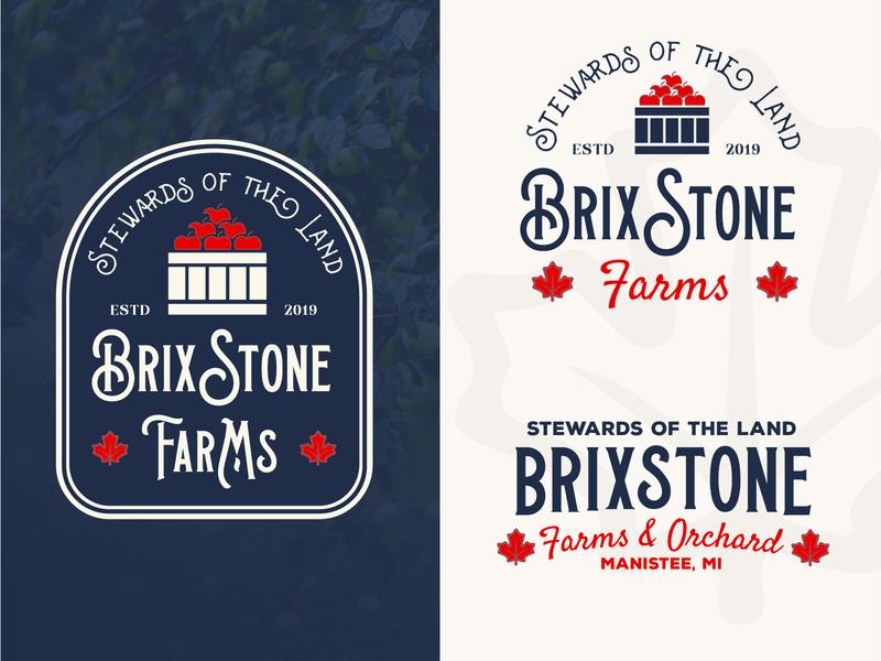 BrixStone Logo Design brand identity digital art branding orchard design brand logo logos logo design graphic design farm