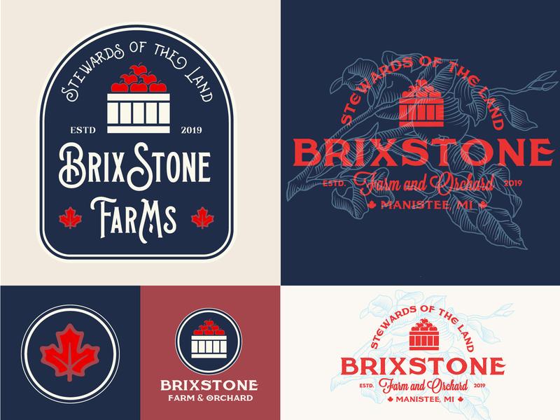 BrixStone Logo Design brand identity digital art branding orchard farm brand design logo logos logo design graphic design