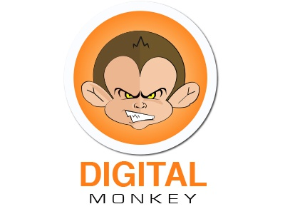 Digital Monkey illustration monkey brand digital character animal logo identity