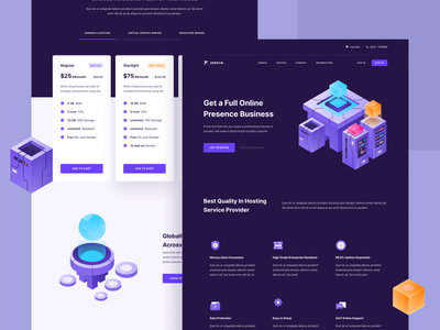 Zephyr - Hosting and Server Landing Page web design design ux simple proxy isometric layout ui internet illustration homepage website landing page cryptocurrency hosting server