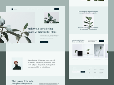 Tanduran - Plant Landing Page product nature desktop web design nursery shop plants simple website clean ux ui landing page furniture interior plant