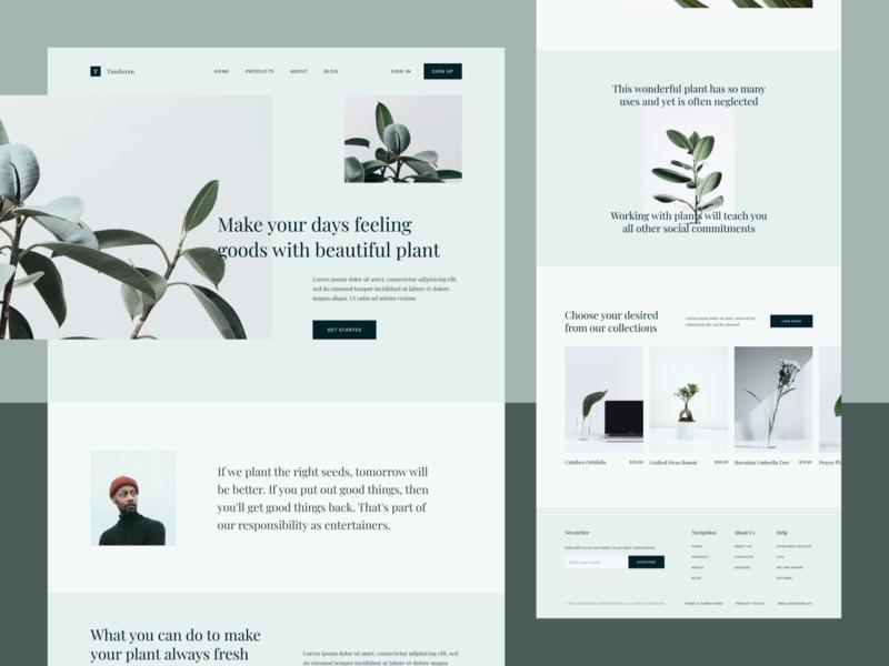 Tanduran - Plant Landing Page
