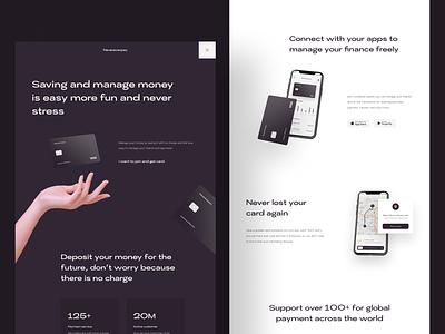 Nevereverpay   Banking Website minimalism finance bank card card credit bank app banking bank design web design website landing page ux ui