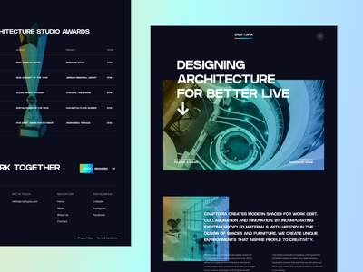 Craftopia - Architecture Agency🌇 building agency architecture homepage minimalist web design design website simple landing page clean ux ui