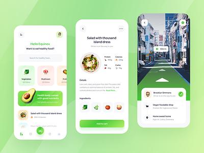 Kesehatanmu - Healthy Food Apps🥬 green vegetable eat diet health healthy nutrition food delivery delivery app food food app mobile simple app minimalist clean ux ui