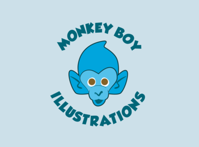 Monkey Boy Illustration Logo Design