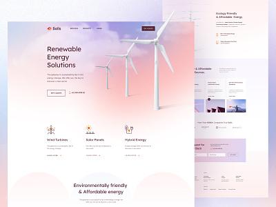 Solis - Renewable Energy Layout Pack turbine power renewable energy renewable solar energy branding design saas web ui creative landing landing page ener