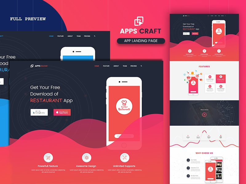 Apps Craft App Landing Page Live Link By Niaz Mahmud Dribbble