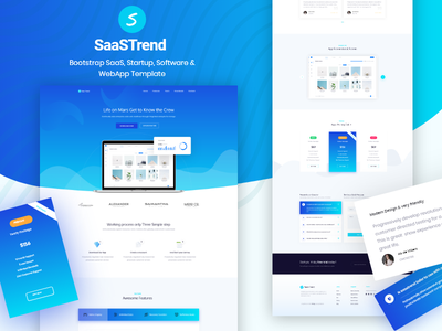 Saas Landing web google sketch startup product typography user interface ux ui clean saas design website app landing creative apps app landing page landing illustration