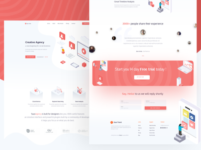 ISOmetric SaaS Landing Page gradient creative app banner trend user interface isometric saas clean typography landing ui design ux web app landing apps landing page google illustration