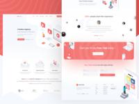 ISOmetric SaaS Landing Page