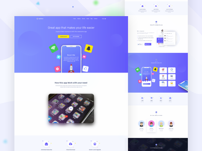 App Landing Page (AppMaze) gradiant product trend website branding ux web ui gradient saas google creative design user interface illustration app landing app apps landing page landing