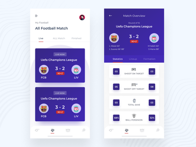 Football App Statistics dashboad statistics minimal football app design app mobile app mobile