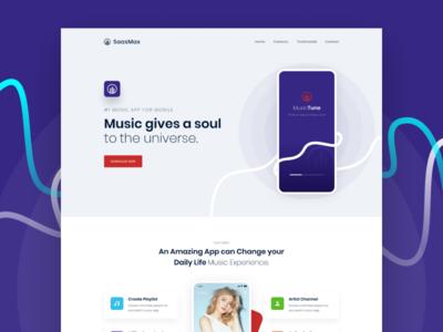 MusicTune App Landing Page
