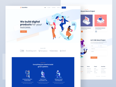 Startup Agency Landing Page clean webdesign start up web business corporate agency startup saas creative landing landing page illustration