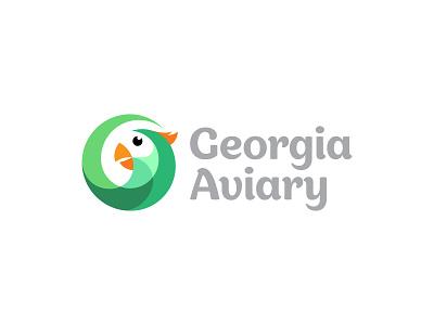 Georgia Aviary Logo bird logo bird icon design abstract vector minimalist logo