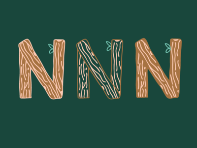 Wood Text Lettering