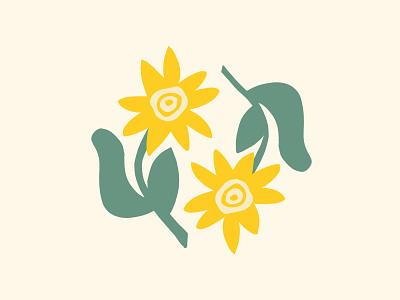 Summer wildflowers minimal michigan procreate flower logo iconography icon illustration flower illustration flowers abstract