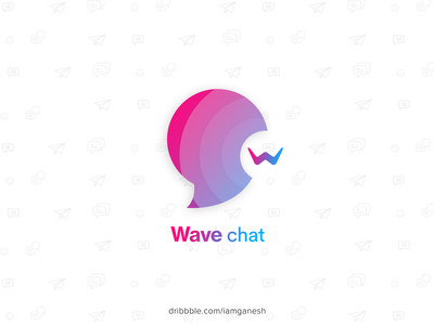 Wave chat App Icon